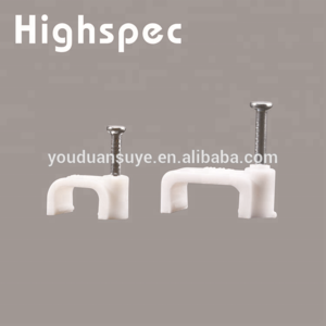 Top Quality Plastic Cable clip with Circle Steel Nail