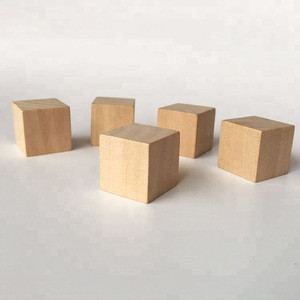 Unfinished 25mm wooden blocks wood cube wooden building blocks for DIY