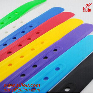 Unisex colorful custom Silicone Belts with plastic fashion plastic Buckles