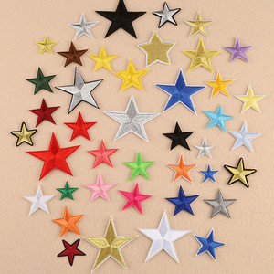 Wholesale Different Styles of Five Pointed Star Embroidery Patch With Various Colors Patches For Clothing
