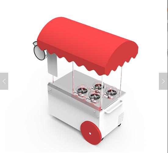 Artisan ProV4 commerical ice cream maker cart gelato cart gelato machine