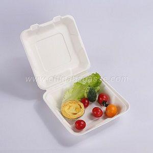 Biodegradable Tableware Disposable Hamburger Box Compostable Burger Boxes