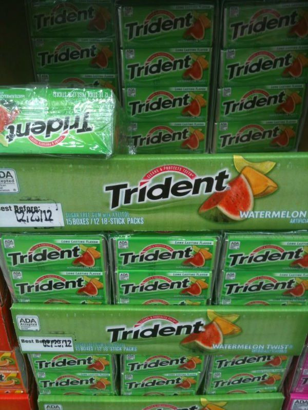 Different Flavoured Trident Chewing Gum