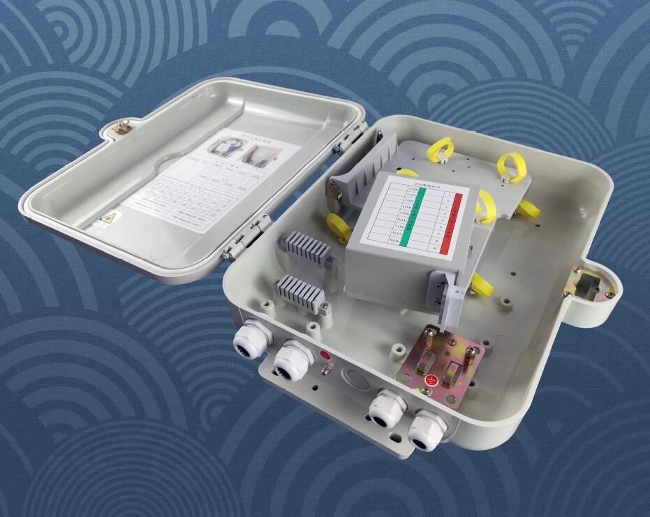 SMC Fiber Optic Splitter & Distribution Box for 16 fibers in FTTx applications