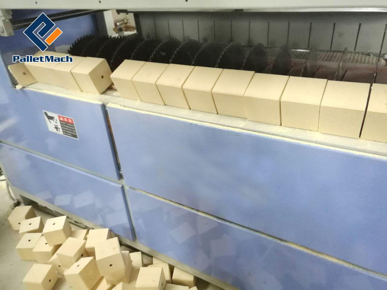 Pallet block cutting machine (multiple-blade model)