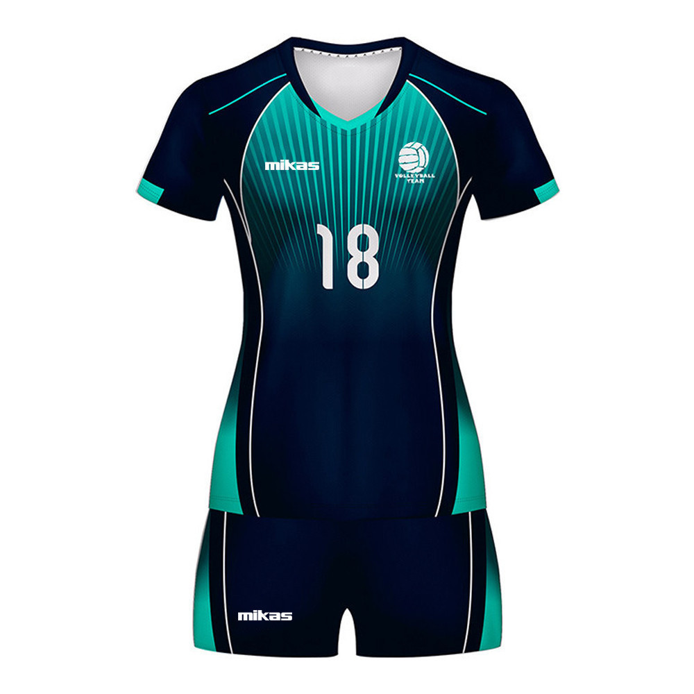 2020 Custom volleyball jersey design team custom mens and women wear volleyball jersey set