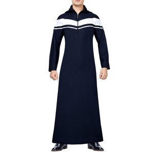2020 high quality traditional arabic standing collar Muslim islamic clothing men's jubah thobe long dress New
