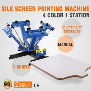 4 Color 1 Station mini manual T shirt Press Silk Screen Printer for sale
