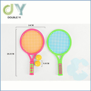 Children sporting toy mini plastic beach tennis rackets with balls for wholesale