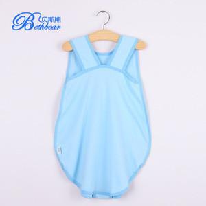 Ergonomic cotton fabric baby sleeping bag