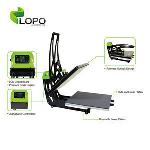 Factory Supply Auto Clam Slider Heat Press Machine from LOPO tech