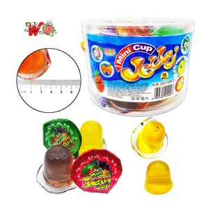Good tasty fruit snacks  cup jelly with multi-colored in jars