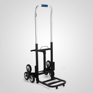 Heavy duty metal hand truck 6 wheel tool cart with trailer
