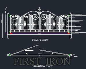 Laser Cut and Wrought Iron Gate Design/ Iron Fancy Gates for Livestock Farm