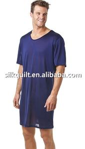 Mens Silk Long Nightshirt