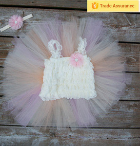 Newborn baby fluffy tutu skirt for girls tutu dress tutu skirt wholesale dusty pink