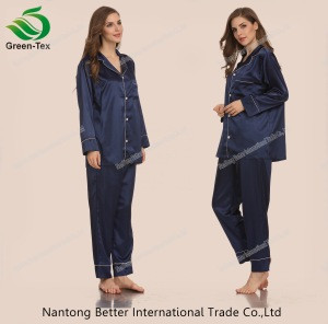 Personalized Comfortable Silk-like  Satin Women Pajamas