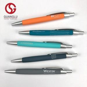 Promotional Hotel Rubber Plastic Ballpoint Pen