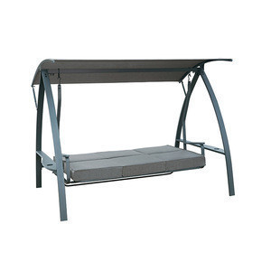 Richseat powder-coated patio 3 Person Daybed Swing with canopy