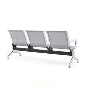 Silver 3-seater Stainless Steel Accompanying Chair Hospital Furniture Patient Waiting Chair