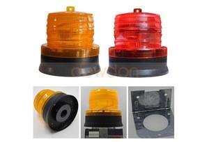 Solar Emergency Strobe Light LED Waterproof Flashing Warning Safety Signal for Trucks Cars Vehicle
