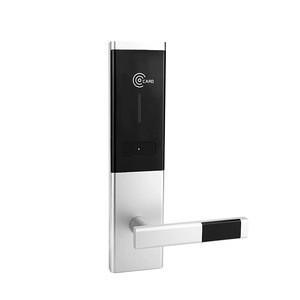 Stainless steel case electronic card key RFID access control hotel bluetooth door lock