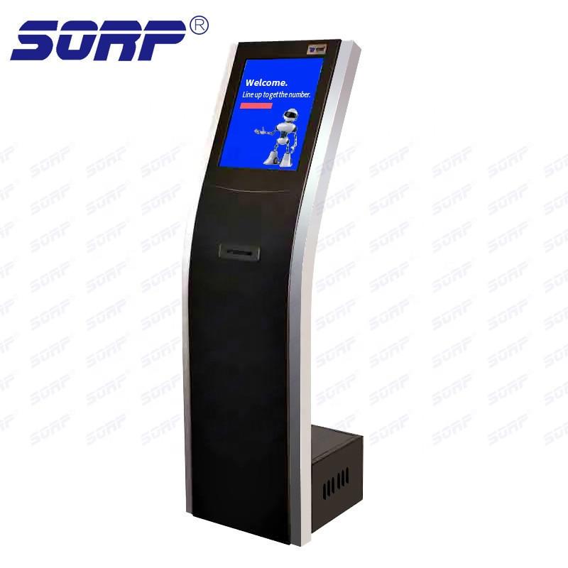 Vertical Floor Standing Queuing Call Machine Management Ticket Dispenser Selfservice Inquiry