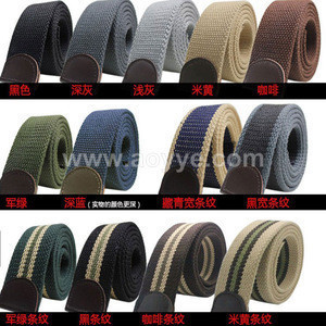 Wholesale thickening male canvas belt thickness of 4 mm woven belt body outdoor belt cloth