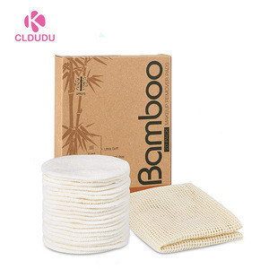 Zero Waste Reusable and washable facial cleansing Rounds Makeup Remover bamboo cotton  Pads