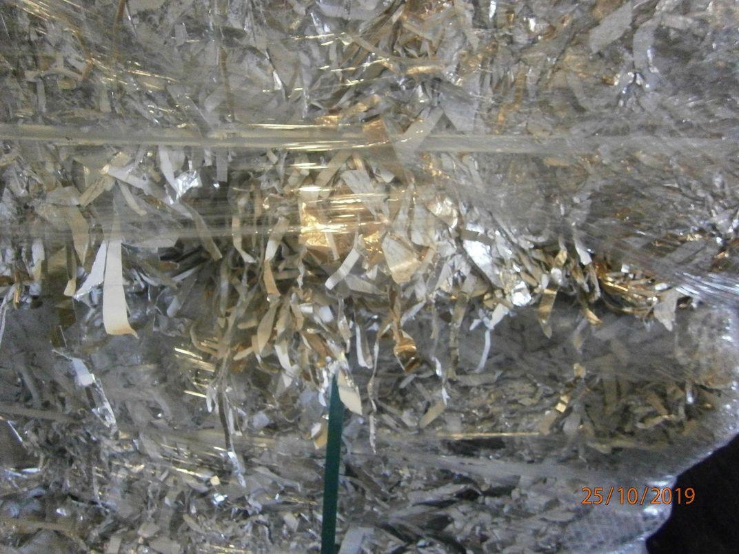 Alu/paper scrap