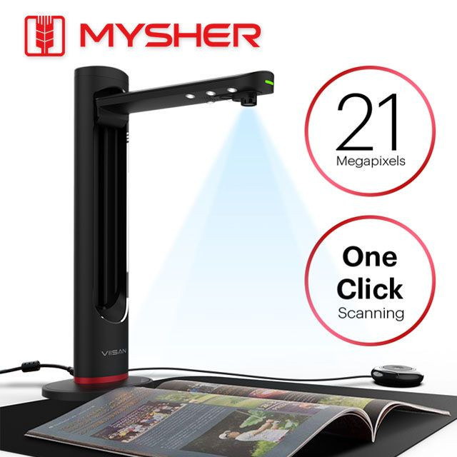 21MP, A3 Size Professional Document & Book Scanner With The Laser Positionin, Book Scan, Powerful OCR.