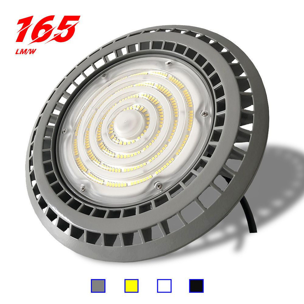 High quality ip65 5 years warranty lamp 150W 100 watt 200 watts 100W 100v-277v 347v ufo led high bay light white