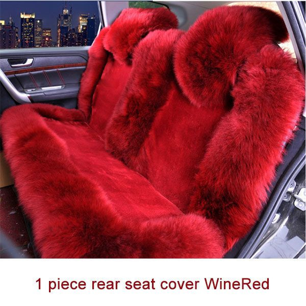 Wool Car rear Seat Cover Winter Warm Automobiles Seat Cushion Natural Fur Australian Sheepskin Auto Seats Cover Cars Fur Accessories