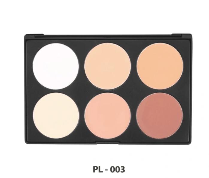 Private Label Makeup 6 Colors Highlight Contour Palette