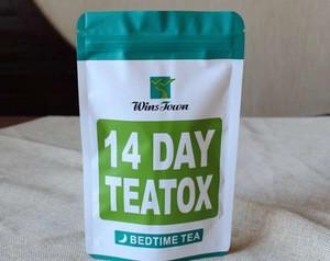 14 days skinny tea detox tea weight loss pyramid tea bags envelop package