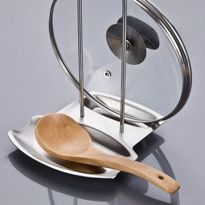 2 in 1 Lid Holder and Spoon Rest Foldable for Easy Storage Food-Grade Thick 304 Stainless Steel
