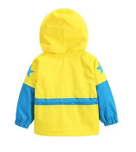 2015 autumn outfit childrens leisure wear with hood New boy baby printing stars hooded jacket