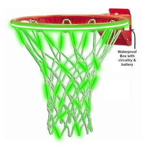 2020 Remote Control New Design Flashing Light Up Basketball Glow In The Dark LED Basketball Net