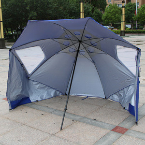 8ft wide durable caopy 210D Oxford X-Large Cubicle Beach Umbrella Beach Tent With Sun Shelter