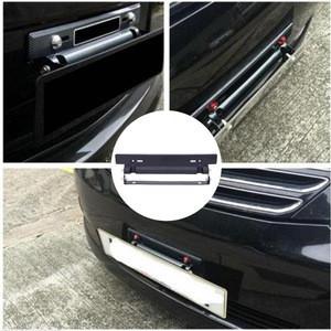 Adjustable Car Number License Plate Frame Bracket Holder Carbon Fiber Auto Front Mount Bumper Brackets 320 X 60 X 45mm