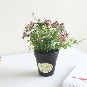 Bubble Small Wild Fruit Small Bonsai Set Decoration Black Plastic Pot Flower Decoration Crafts
