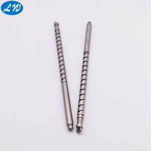 CNC lathe machining cylindrical grinding strict tolerance stainless steel 304 pump shaft
