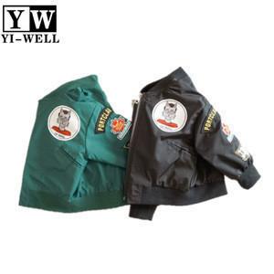 Custom embroidery wholesale fashion baby kids bomber jacket
