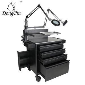 Dongpin Lockable Tattoo Trolley Cart Workstation Salon Trolley Cart Perfect for Hair Salon