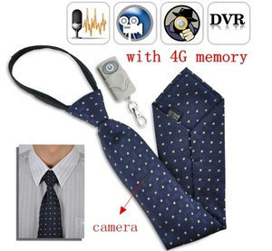 Fashion 720p Hidden 4G tie Camera Mini Camcorder audio video recorder mini spy camera with remote control Detection DVR