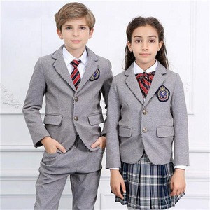 Fashion Primary Boys And Girls School Uniform Designs