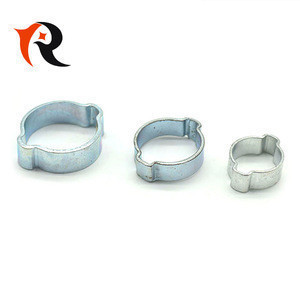 Galvanized Steel 5-7mm Double Ear Hose Clamp