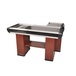 Good quality supermarket equipment checkout counter for sale