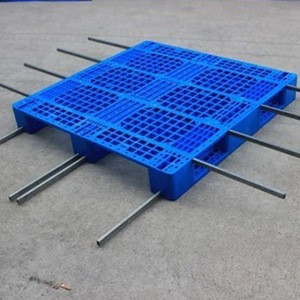 Heavy Duty Single Faced Plastic Pallets With Metal Reinforcement