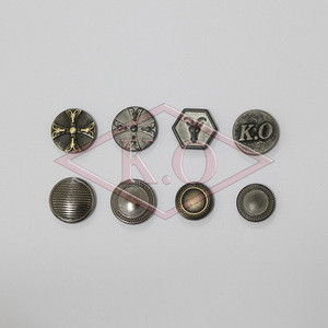 High quality garment accessories trousers hook and bar metal buttons for jeans